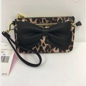 Betsey Johnson leopard wallet